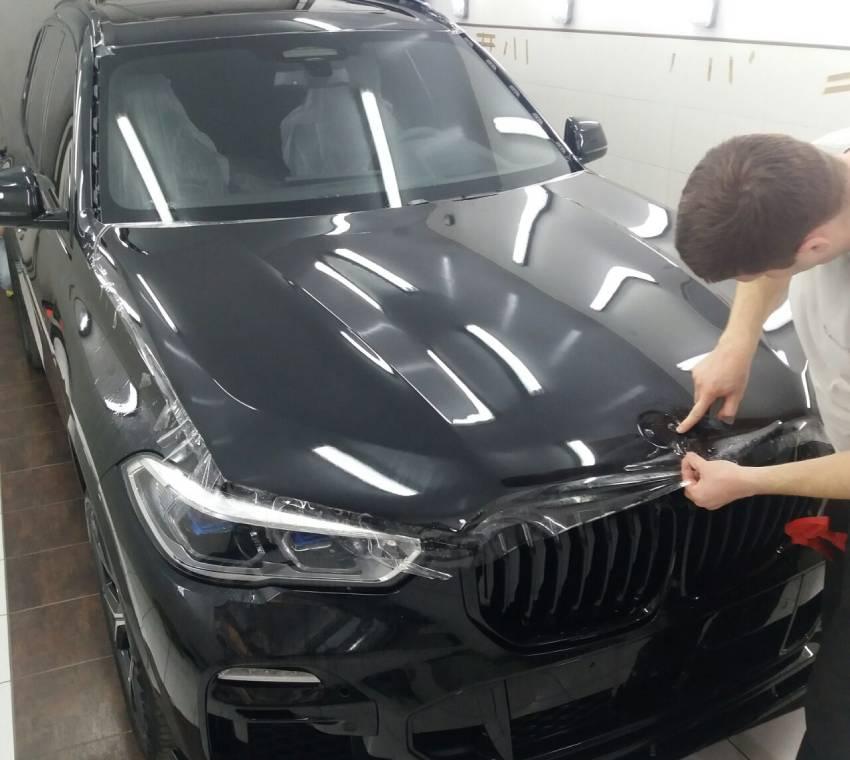 Антигравийнаяя защита капота BMW X5M