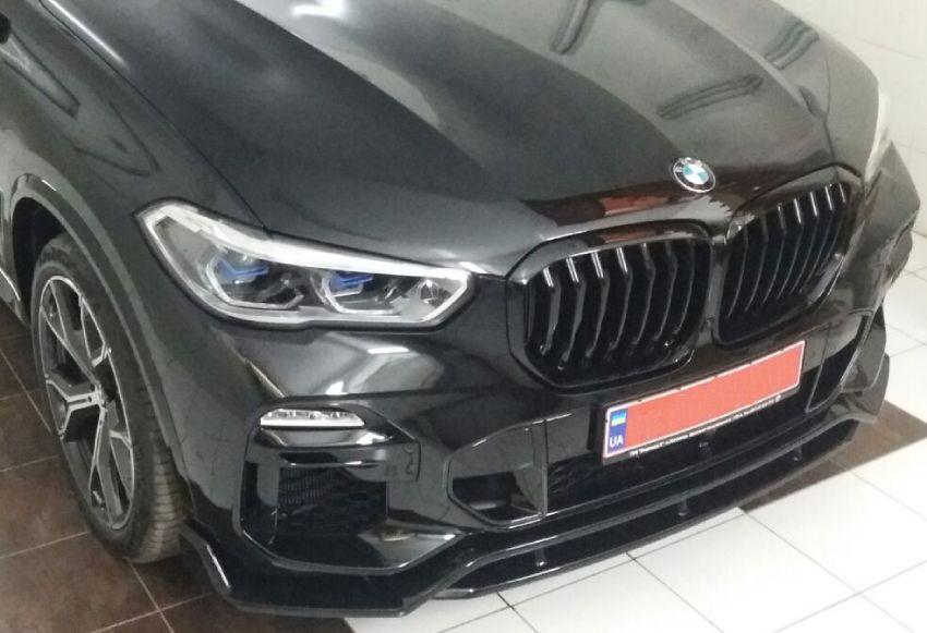 Бронирование фар и бампера автомобиля BMW X5m