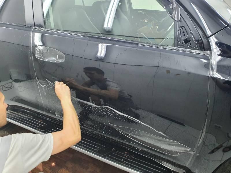 антигравийная защита дверей BMW X3